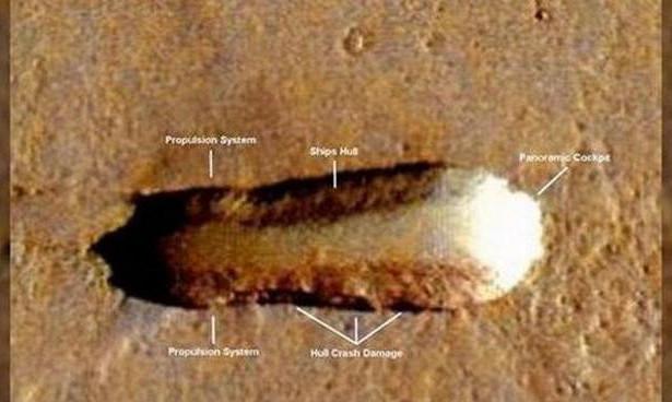 на Марсі космічний корабель