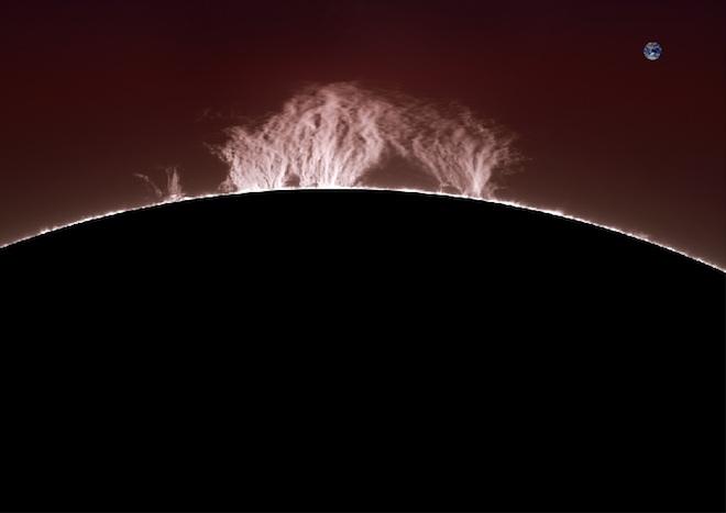 На Сонці піднявся гігантський протуберанець